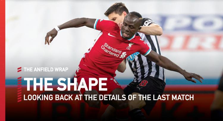 Newcastle 0 Liverpool 0   The Shape