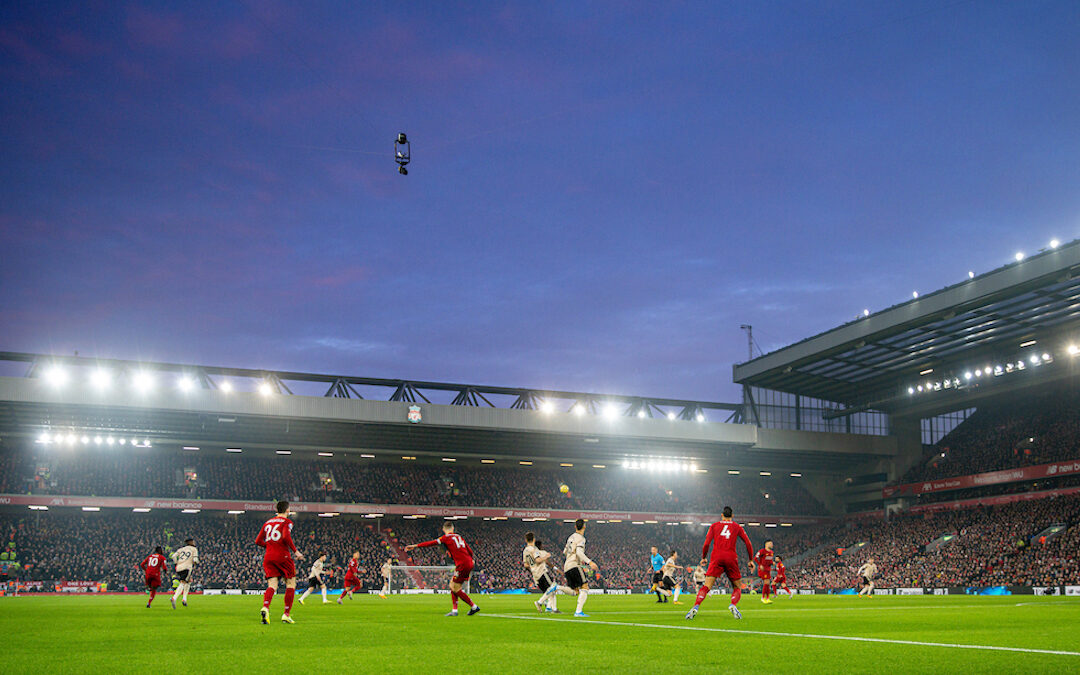 A general view during the FA Premier League match between Liverpool FC and Manchester United FC at Anfield