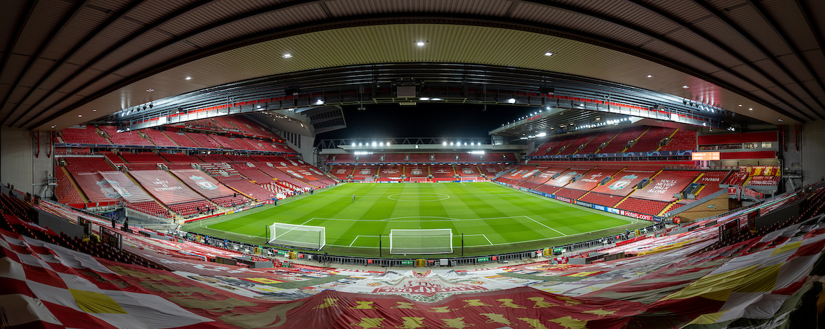 A general view from the Spion Kop before the UEFA Champions League Group D match between Liverpool FC and Atalanta BC at Anfield