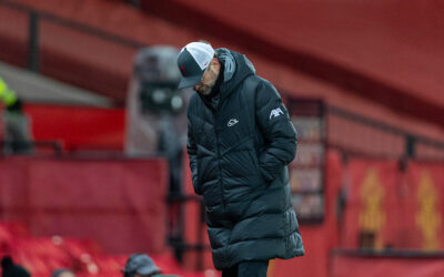 Liverpool's manager Jürgen Klopp during the FA Cup 4th Round match between Manchester United FC and Liverpool FC at Old Trafford