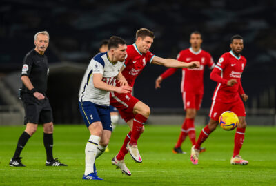 Liverpool's James Milner during the FA Premier League match between Tottenham Hotspur FC and Liverpool FC at the Tottenham Hotspur Stadium
