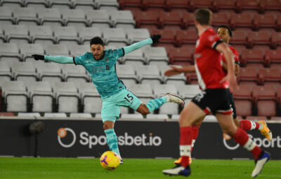 Liverpool's Alex Oxlade-Chamberlain during the FA Premier League match between Southampton FC and Liverpool FC at St Mary's Stadium