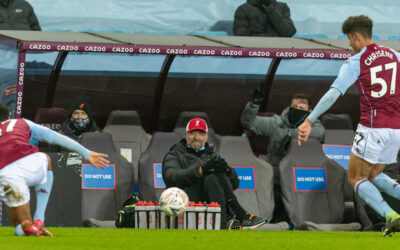 Liverpool's manager Jürgen Klopp during the FA Cup 3rd Round match between Aston Villa FC and Liverpool FC at Villa Park