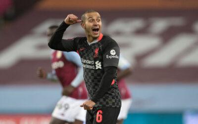 Liverpool's Thiago Alcantara during the FA Cup 3rd Round match between Aston Villa FC and Liverpool FC at Villa Park