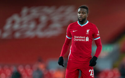 Liverpool's Divock Origi during the FA Premier League match between Liverpool FC and Burnley FC at Anfield