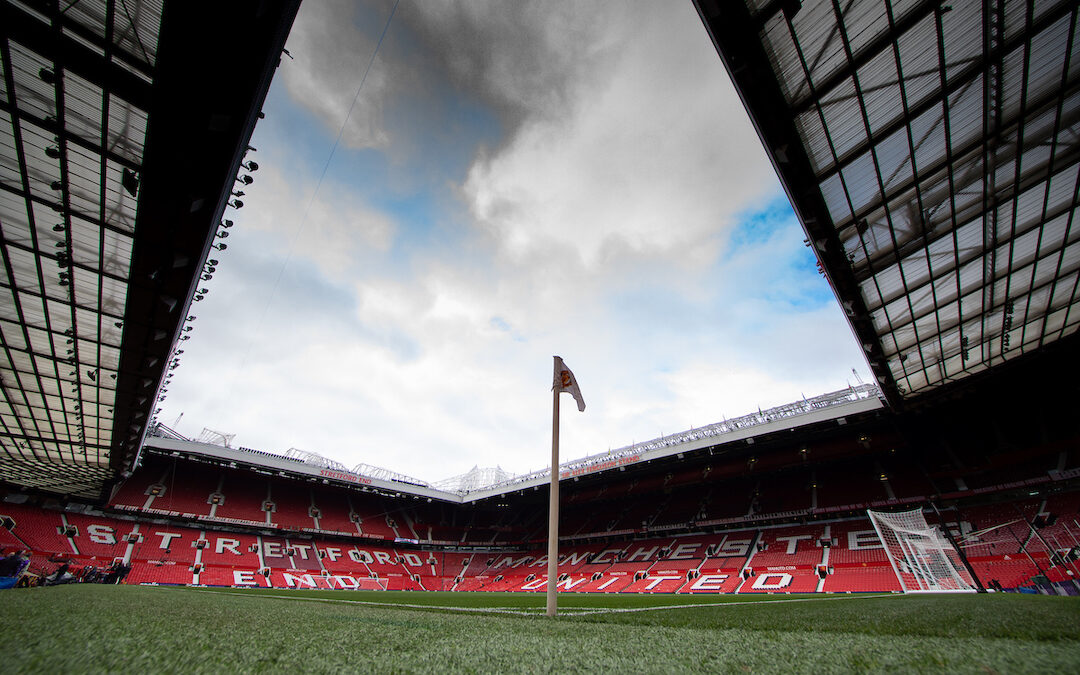 A general view of Old Trafford ahead of the FA Premier League match between Manchester United FC and Liverpool FC