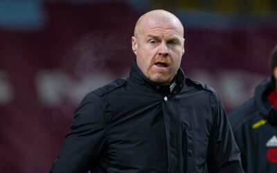 Burnley's manager Sean Dyche before the FA Premier League match between Burnley FC and Sheffield United FC at Turf Moor
