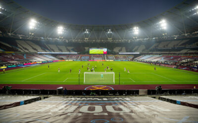 A general view during the FA Premier League match between West Ham United FC and Liverpool FC at the London Stadium