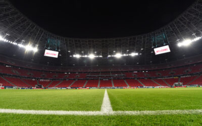 A general view of the Puskás Aréna ahead of the UEFA Champions League Round of 16 1st Leg game between RB Leipzig and Liverpool FC