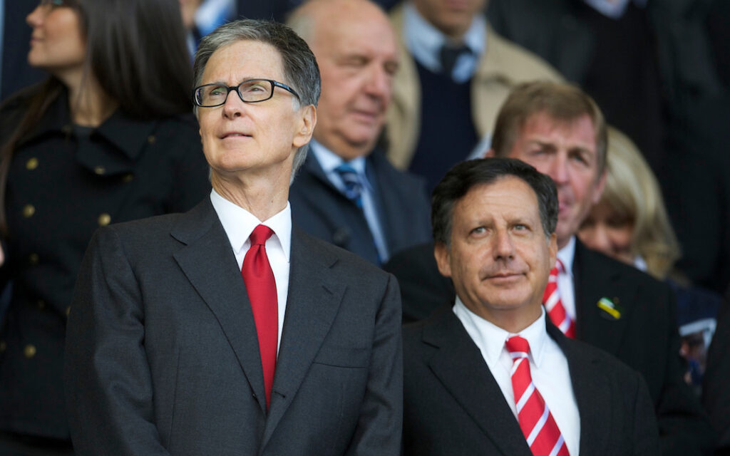 Liverpool's owner John W. Henry and co-owner and FSG Chairman Tom Werner 10 years ago