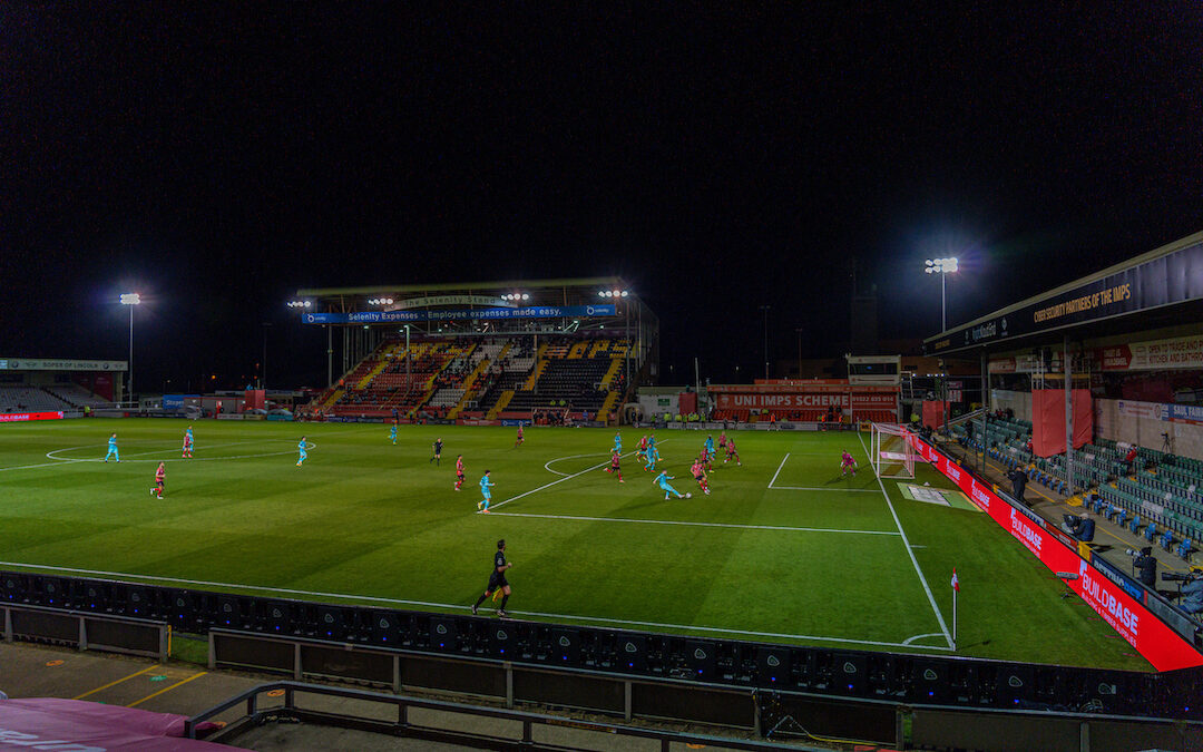 A general view during the Football League Cup 3rd Round match between Lincoln City FC and Liverpool FC at Sincil Bank