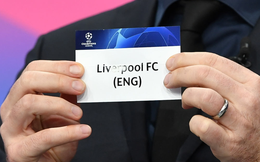 Liverpool FC during the UEFA Champions League 2020/21 draw