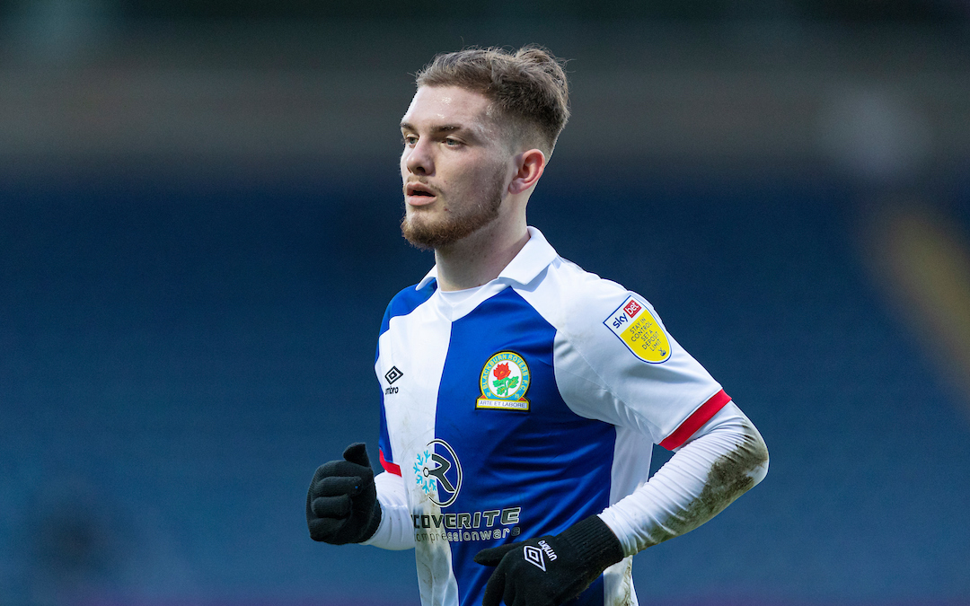 Blackburn Rovers' Harvey Elliott on loan from Liverpool