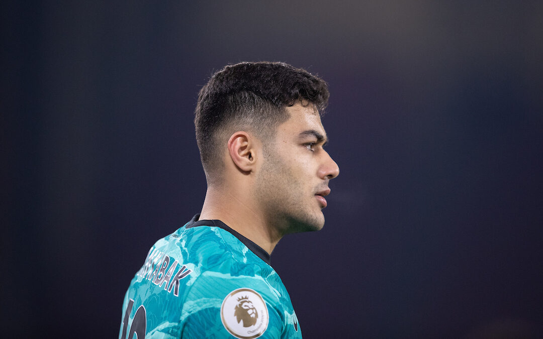 Liverpool's Ozan Kabak during the FA Premier League match between Sheffield United FC and Liverpool FC at Bramall Lane