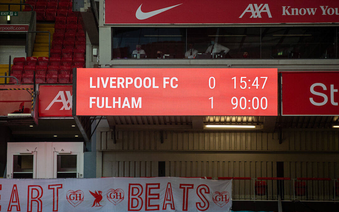Liverpool 0 Fulham 1: The Anfield Wrap
