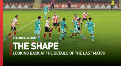 Neil Atkinson looks back at the finer statistical and tactical details of Sheffield United 0 Liverpool 2 in the Premier League...