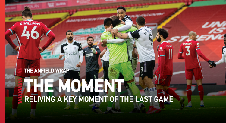 Liverpool 0 Fulham 1   The Moment