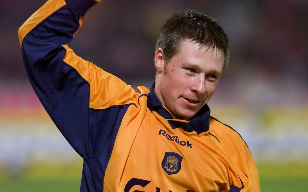Liverpool FC midfielder Nick Barmby in 2001