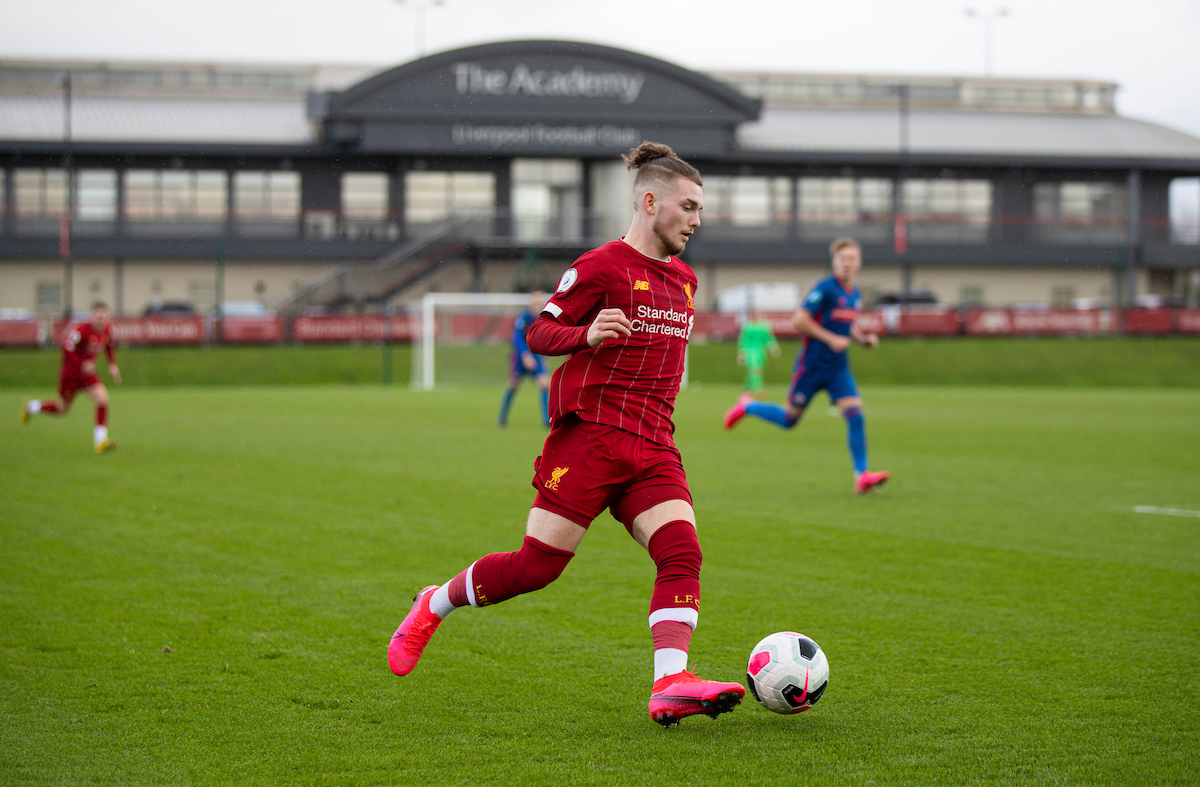 Liverpool's Harvey Elliott during the Premier League Cup Group F match between Liverpool FC Under-23's and AFC Sunderland Under-23's at the Liverpool Academy