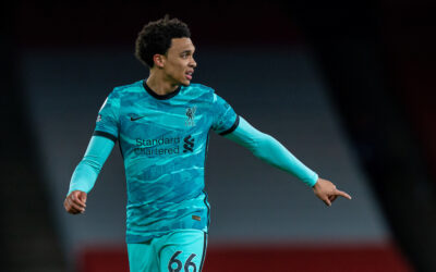 Saturday, April 3, 2021: Liverpool's Trent Alexander-Arnold during the FA Premier League match between Arsenal FC and Liverpool FC at the Emirates Stadium. Liverpool won 3-0.