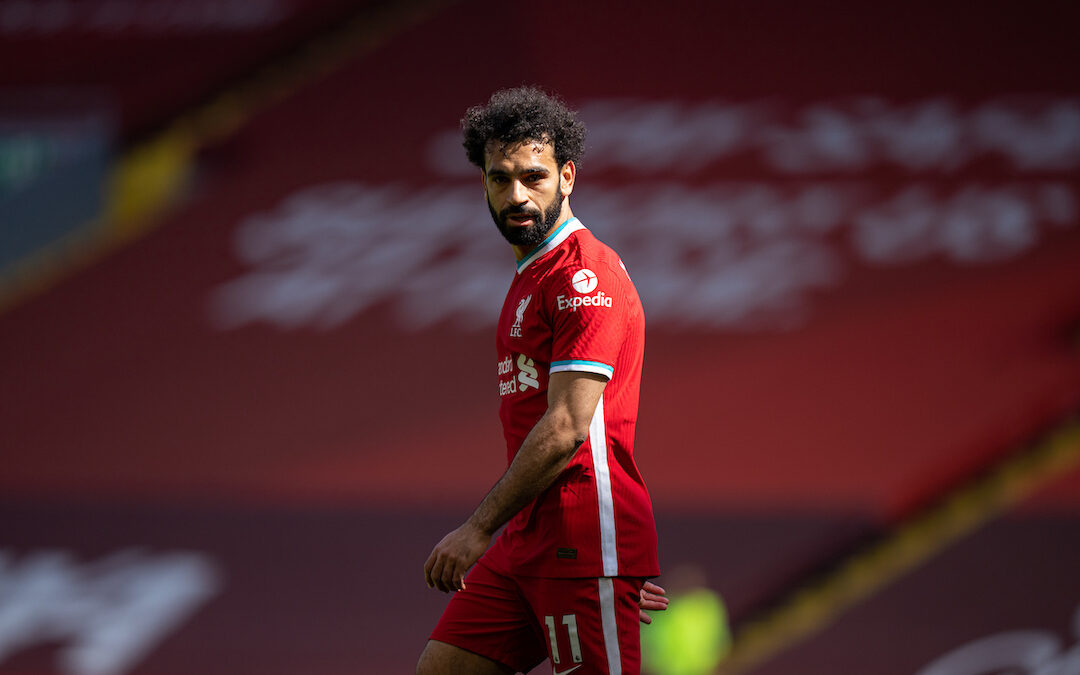 Mo Salah during the FA Premier League match between Liverpool FC and Newcastle United FC at Anfield.