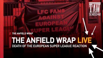 Neil Atkinson, John Gibbons, Gareth Roberts and Craig Hannan reacted live on video last night as the European Super League crumbled...
