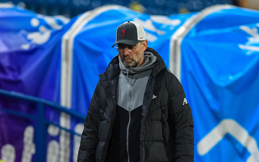 Monday, April 19, 2021: Liverpool's manager Jürgen Klopp after the FA Premier League match between Leeds United FC and Liverpool FC at Elland Road. The game ended in a 1-1 draw.
