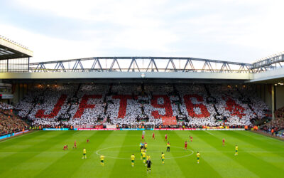 Liverpool supporters calling for Justice for the 96 who died at Hillsborough.