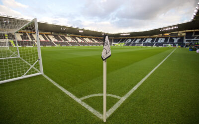 A general view of Pride Park as Derby County take on Liverpool during the Football League Cup 3rd Round match.