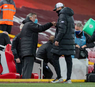 Liverpool's manager Jurgen Klopp and West Brom's Sam Allardyce