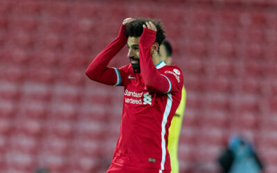 Liverpool's Mohamed Salah during the FA Premier League match between Liverpool FC and Burnley FC