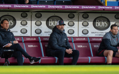 Liverpool's manager Jurgen Klopp during the FA Premier League match between Burnley FC and Liverpool FC at Turf Moor.