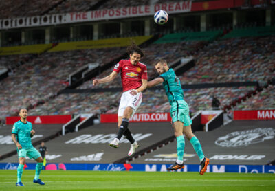 Liverpool's Nat Phillips during the FA Premier League match between Manchester United FC and Liverpool FC at Old Trafford.
