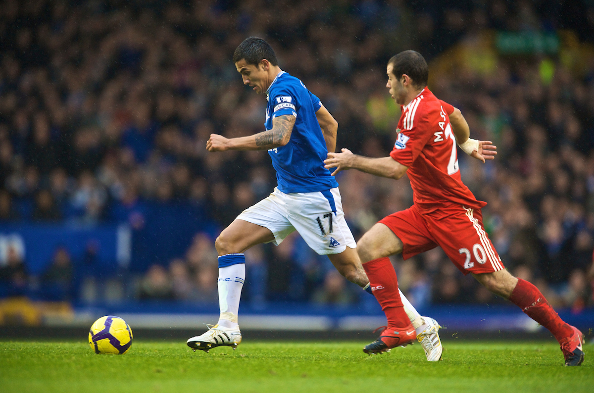 Everton's captain Tim Cahill