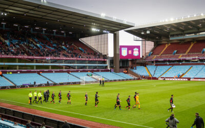 Liverpool players walk out during the FA Youth Cup Final match between Aston Villa FC Under-18's and Liverpool FC Under-18's at Villa Park