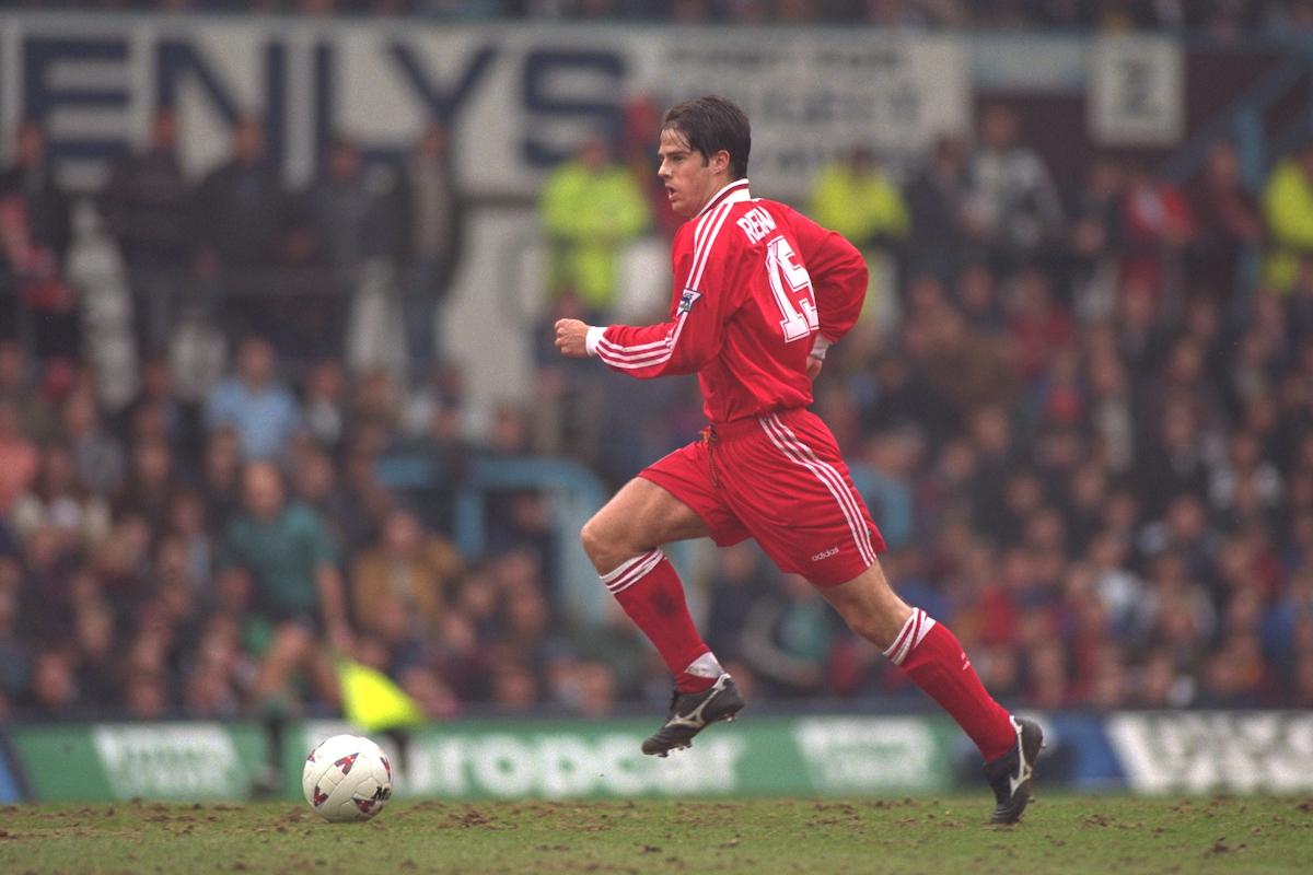 Jamie Redknapp for Liverpool in 1996