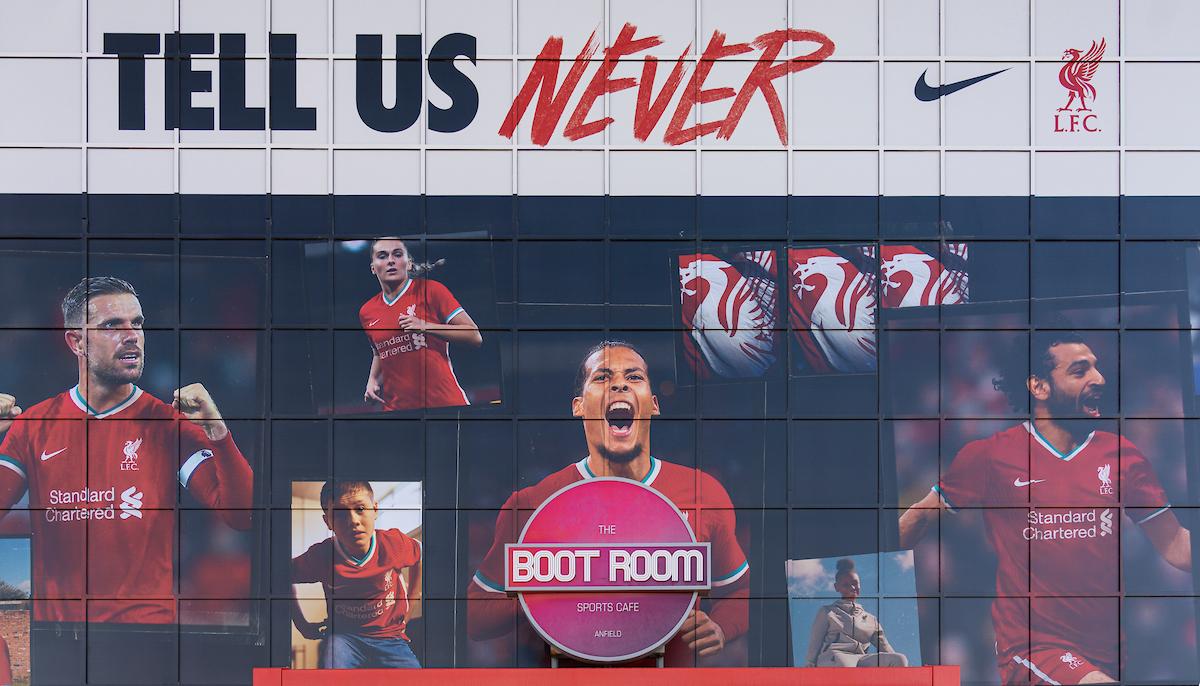 Liverpool's Jordan Henderson, Virgil van Dijk and Mo Salah