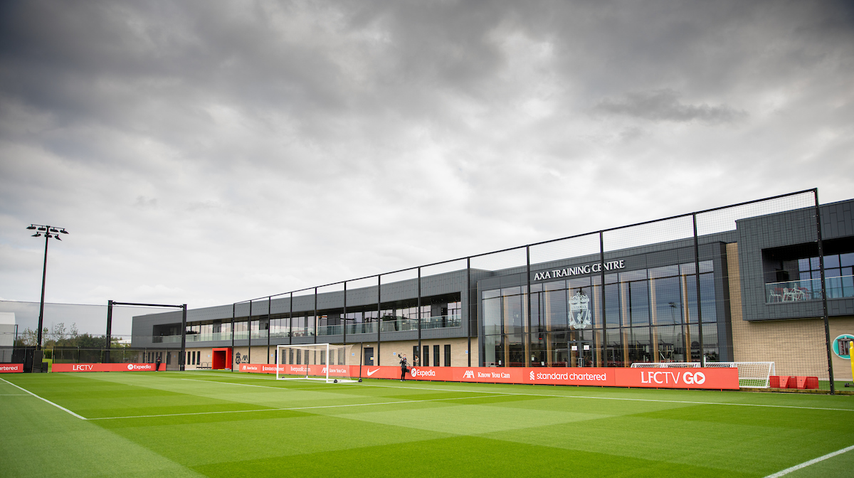A general view during a training session at the AXA Training Centre ahead of the UEFA Champions League Group B Matchday 1 game between Liverpool FC and AC Milan