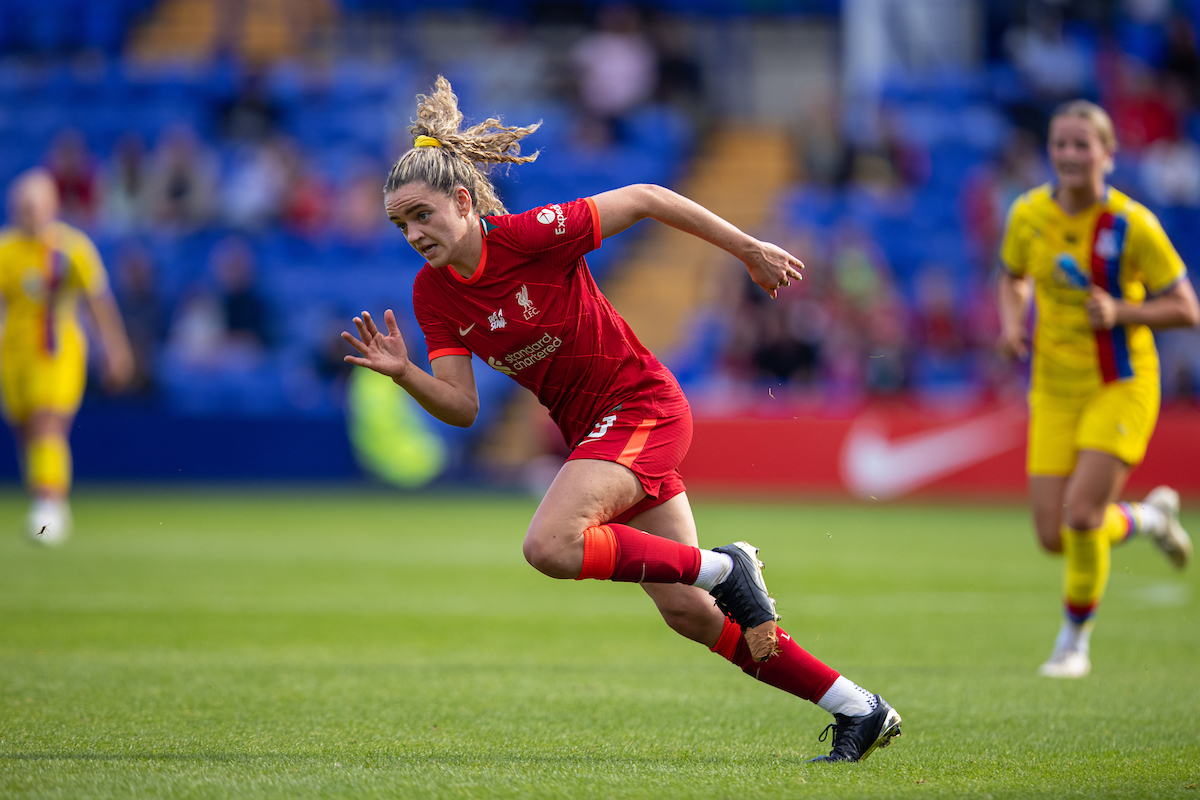 Liverpool's Leanne Kiernan during the FA Women's Championship Round 4 match between Liverpool FC Women and Crystal Palace FC Women at Prenton Park